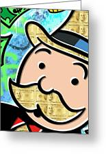 Mr Monopoly Greeting Card