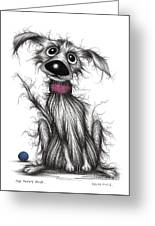 Mr Mucky Paws Greeting Card