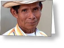 Mr. Panama Greeting Card