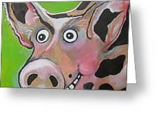 Mr Pig Greeting Card