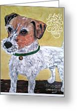 Mr. R. Terrier Greeting Card