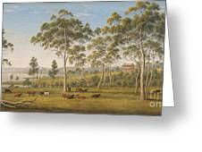 Mr Robinson's House On The Derwent Van Diemen's Land Greeting Card