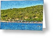 Megalo Kavouri Beach Greeting Card