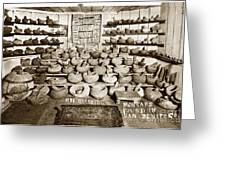 Mrs. Butts Mortar And Pestle Collection Found In San Benito Co. Greeting Card