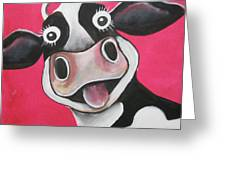 Mrs Cow Greeting Card