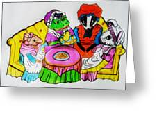 Mrs. Mouse Tea Party Greeting Card