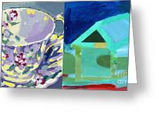 Mrs Patterson S Tea Cup 6246 Greeting Card
