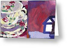 Mrs Patterson S Tea Cup 6254 Greeting Card
