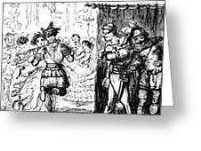 Mrs Sextus Consoles Herself With A Little Party Greeting Card
