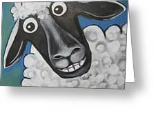 Mrs Sheep Greeting Card
