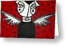 Mrs.creepy Greeting Card by Thomas Valentine