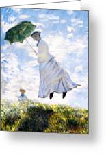 Ms Monet Blown Away  Greeting Card