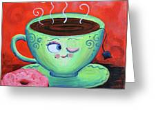 Ms Tea Greeting Card