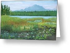 Mt Ampersand From Oseetah Lake Greeting Card