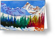 Mt. Athabasca, Jasper Greeting Card