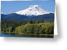 Mt. Baker And Baker Lake Greeting Card