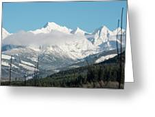 Mt Baker And Clouds Greeting Card