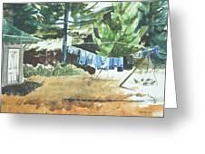 Mt. Barnabe Wash Greeting Card