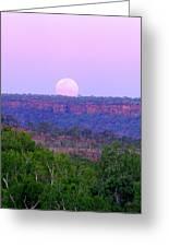 Mt Barnett Moon Greeting Card