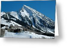 Mt Crested Butte Greeting Card
