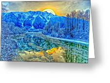 Mt Currie Fantasy Greeting Card
