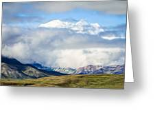 Mt Denali In The Clouds Greeting Card
