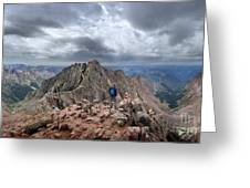 Mt Eolus And The Catwalk From North Eolus - Chicago Basin - Weminuche Wilderness - Colorado Greeting Card