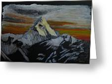 Mt Everest Greeting Card by Richard Le Page
