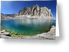 Mt Hitchcock Over Lower Hitchcock Lake 2 - Sierra Greeting Card