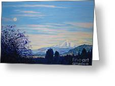 Mt Hood A View From Gresham Greeting Card