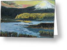 Mt Hood Dazzle Greeting Card