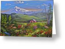 Mt Hood Fantasy Farm Greeting Card
