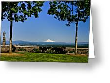 Mt Hood From Rocky Butte Greeting Card