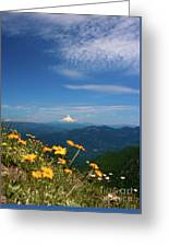 Mt. Hood In The Distance Greeting Card
