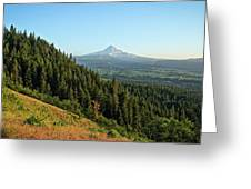 Mt Hood In The Distance Greeting Card