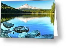 Mt. Hood In Trillium Lake Greeting Card