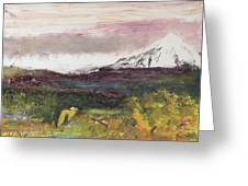 Mt Hood Mirage Greeting Card