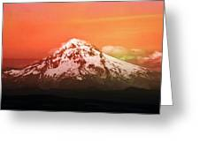 Mt Hood Oregon Sunset Greeting Card by Aaron Berg