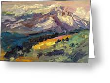 Mt Hood View From Chinook Landing Greeting Card