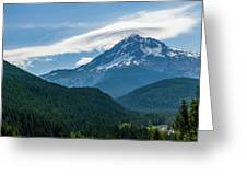 Mt Hood With Lenticular Cloud 2 Greeting Card