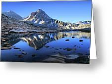 Mt Huxley Over Saphire Lake Morning - John Muir Trail Greeting Card