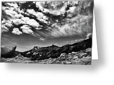 Mt. Lassen B W Greeting Card