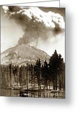 Mt. Lassen In Eruption Oct. 6, 1915 Greeting Card