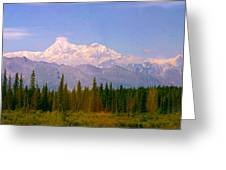 Mt Mckinley 125 Miles Away Greeting Card