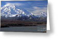 Mt. Mckinley And Lenticular Clouds Greeting Card