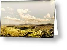 Mt Mee Vintage Landscape Greeting Card