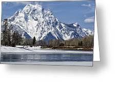 Mt Moran From Oxbow Bend Greeting Card