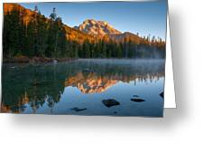 Mt. Moran From String Lake Greeting Card