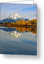 Mt Moran From The Ox Bow Greeting Card