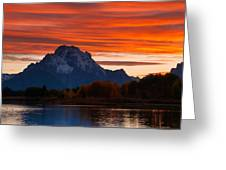 Mt. Moran Sunset Greeting Card